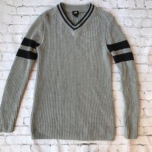 H&M Gray & Black Sweater